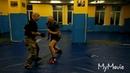 В.Н.Крючков. Подавление атаки противника с ножом серией жёстких ударов