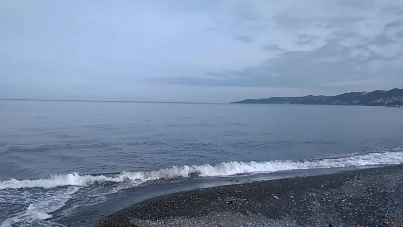 Утро 9-го мая 2018 на пляже Островок