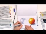 Speed painting из видео урока рисования маркерами Как рисовать маркерами. Основы от Екатерины Кипнис