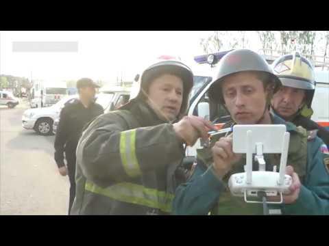 Работа МЧС в зоне чрезвычайной ситуации в селе Пугачево