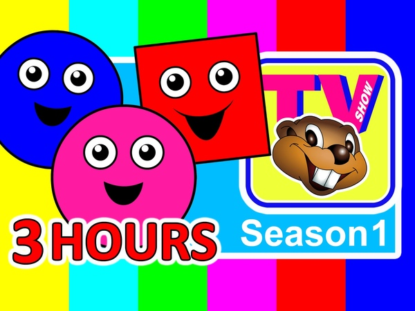 Kids TV Show | Busy Beavers BBTV Season 1 (3 Hours) Teach ABCs 123s Colors Shapes Nursery Rhymes