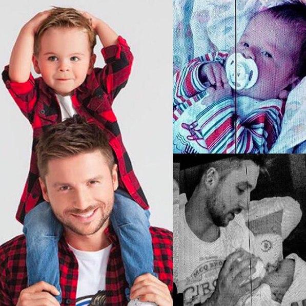 Сергей Лазарев поделился архивными фото новорожденного сына