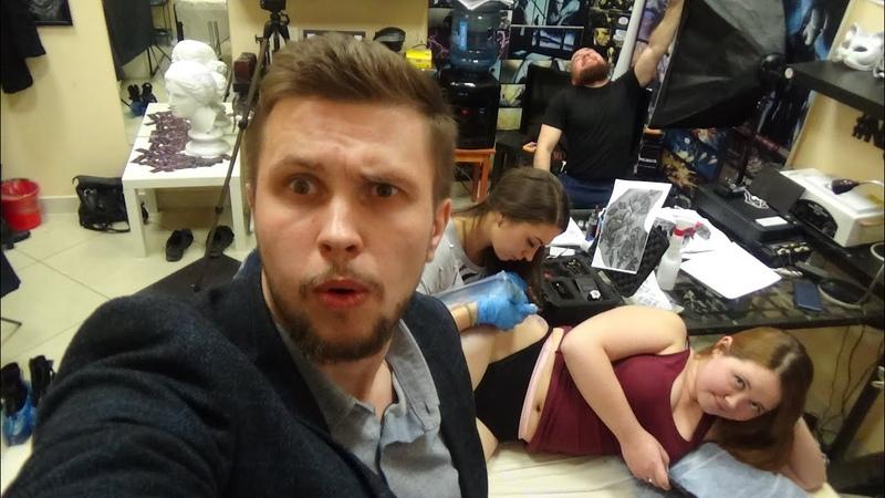 18 Школьная учительница истории и ученица - курсы тату мастера в Екатеринбурге Night Tattoo Club