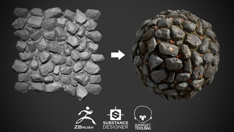 Stone ground material in ZBrush and Substance Designer [1]