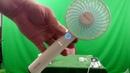Desk Fan BENGOO Usb Mini Cooling Table Fan Handheld Fan with Rechargeable Power Bank and Detachable