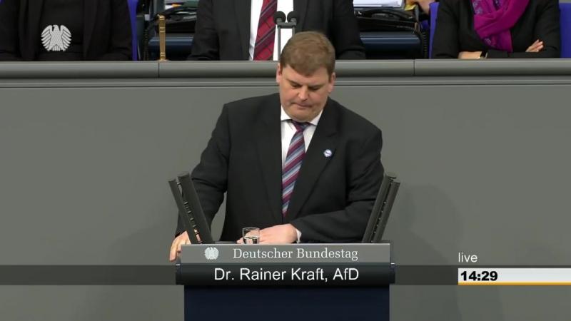 Rainer Kraft AFD - Zu warm- KLIMAWANDEL- zu kalt- KLIMAWANDEL usw-