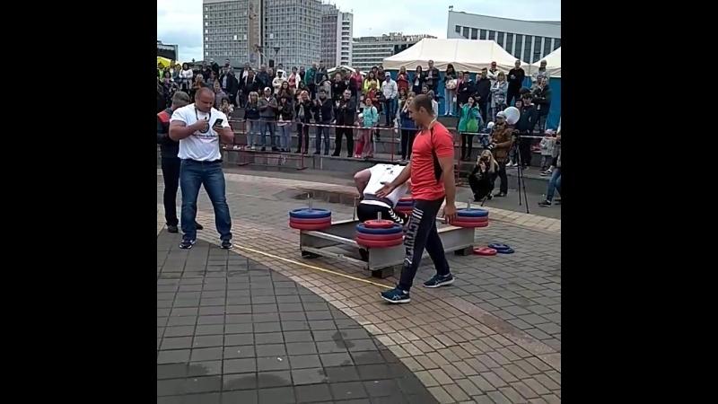 Михаил Ходяков (Украина), колодец - 400 кг 💪 Minsk Strong Battle - 2018 💪🇧🇾