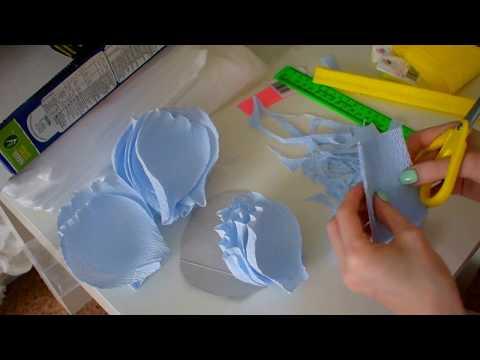 Цветы для фотозоны из гофро. бумаги 1 часть)