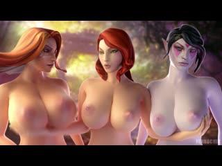 Teasing girls [lanaya templar assassin, lina, windranger] dota 3d game hentai porn rule 34 r34 порно хентай big tits lesbian