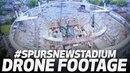 Дрон над новым стадионом «Шпор»