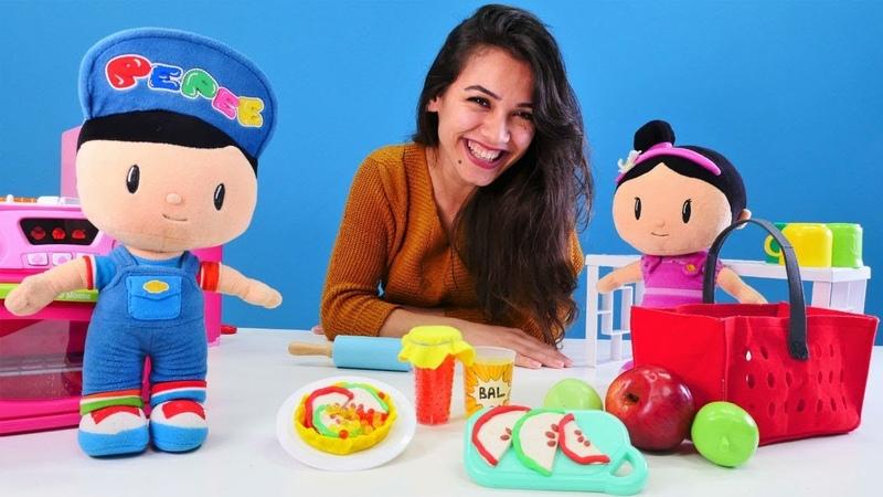 Pepee ve Şila ile elmalı tart yapalım. Eğitici video