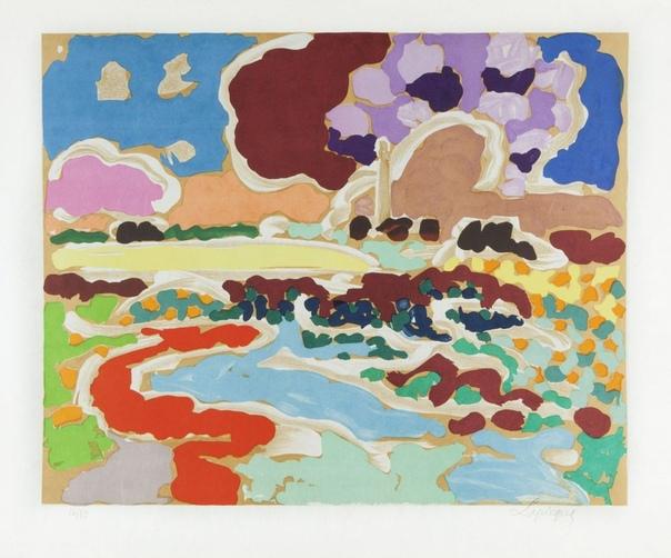 Чарльз Лапик (Charles Lapicque, 1898-1988 ) - французский художник. Лапик был по образованию инженер и занимался вопросами оптики и цвета, пока в 1928 году полностью не посвятил себя Живописи.