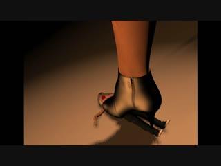 Black Heels Black Result (Giantess Trample)