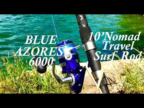 Okuma's Blue Azores Reel - Spinning Bait Chunking!