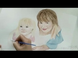 портрет мамы с дочкой