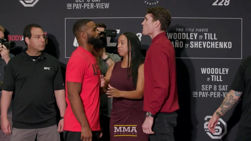 UFC 228 Tyron Woodley vs. Darren Till Media Day Staredown MMA Fighting