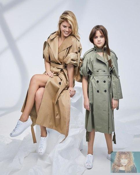 Супруга Цекало приняла участие в модной фотосессии вместе с дочерью