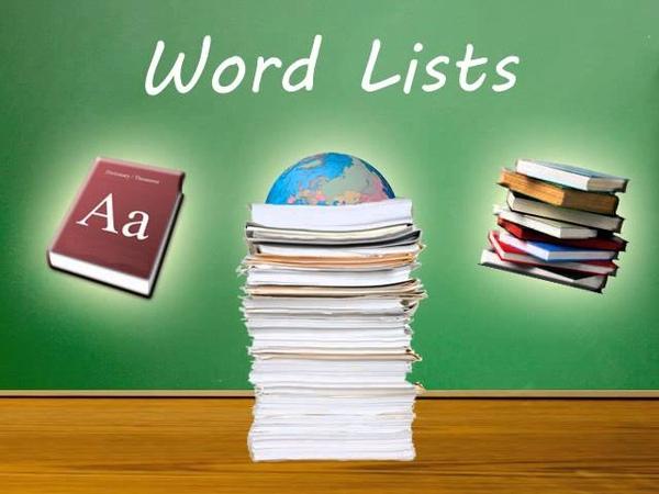 List Grouping - VocabularySpellingCity