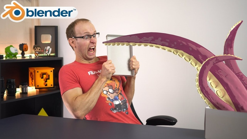MODELLING, RIGGING ANIMATING a Tentacle in Blender | Tutorial