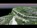 Анимация 3D-модели участка съемки горнодобывающего предприятия НЛМК