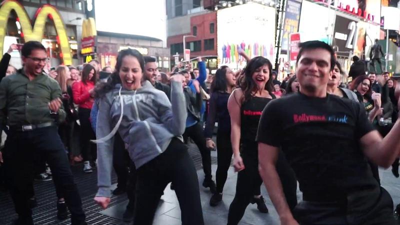Flashmob Times Square Udi Udi Jaye Tamma Tamma Again Bollywood Funk NYC