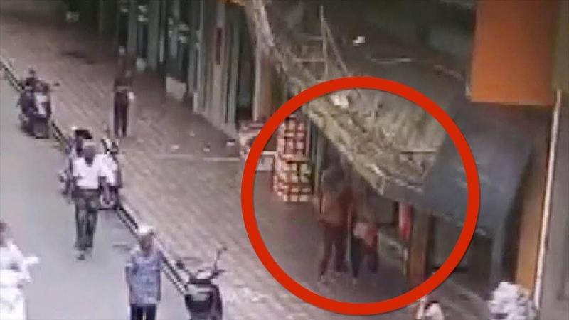 Good Samaritans help three pedestrians hit by fallen billboard