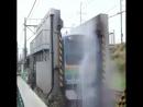 Мойка поезда в Японии