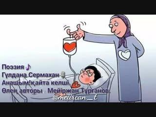 Гүлдана Сермахан-Анашым,қайта келші! [авт:Мейіржан Тұрғанов]