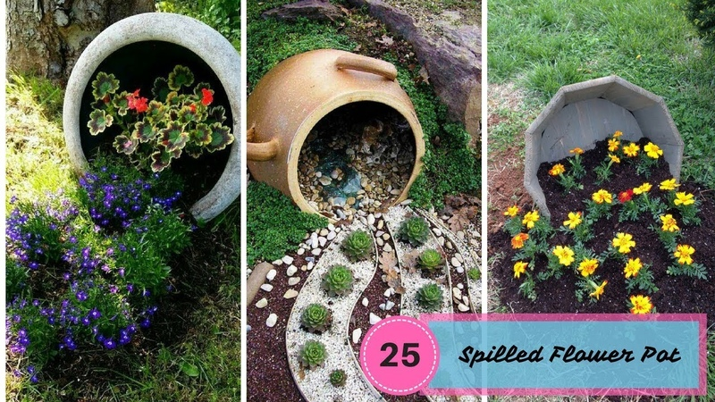 25 Most Beautiful Spilled Flower Pot - The Art Of Gardening
