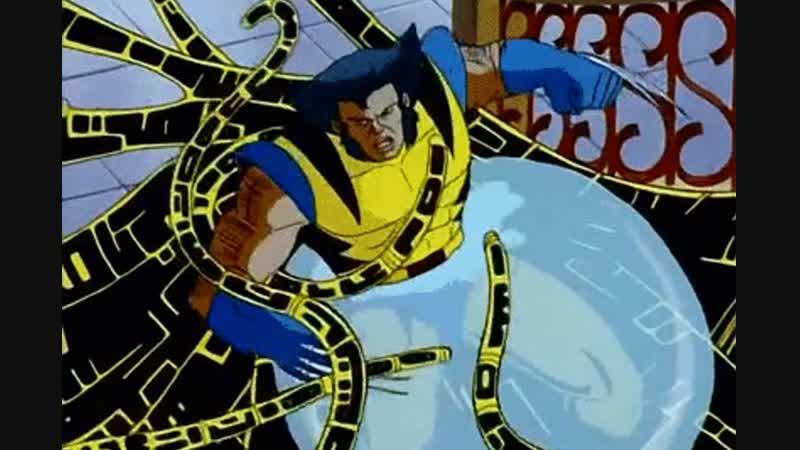 Wolverine vs Phalanx X Men Росомаха против фаланги мультик Люди Х 11DeadFace
