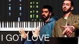 Miyagi, Эндшпиль Ft. Рем Дигга - I Got Love На пианино Ноты