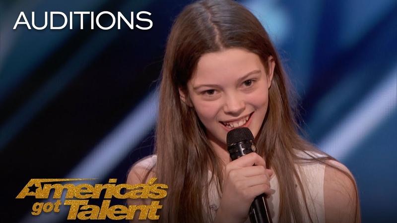 Courtney Hadwin 13-Year-Old Golden Buzzer Winning Performance - Americas Got Talent 2018