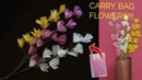 Super easy flower sticks made using thin polythene carry bag | recycled best of waste flowers