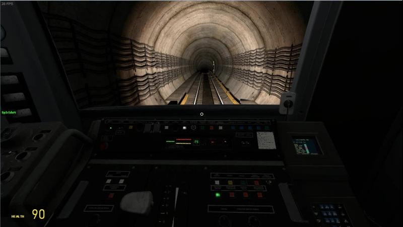 Коллекторная Яуза в игре Metrostroi Subway Simulator