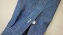 ケンボロ(剣ボロ)の作り方・縫い方 縫製工場の洋裁教室 How to sew a yoke and sleeve pl