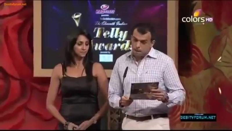 31st May 2012 Indian Telly Awards on Colors Barun Sobti Won Best Onscreen Couple (with Sanaya Irani) in Iss Pyaar Ko Kya Naam