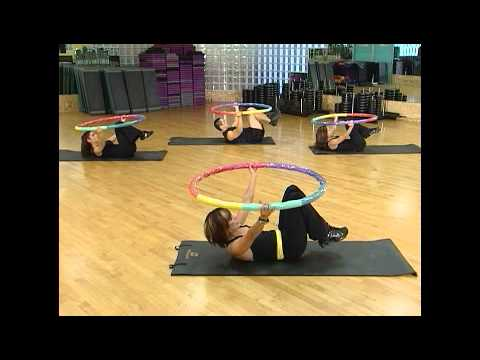 Weighted Sports Hula Hoop Workout - 4 - Core Abdominal Muscles by Rosemary