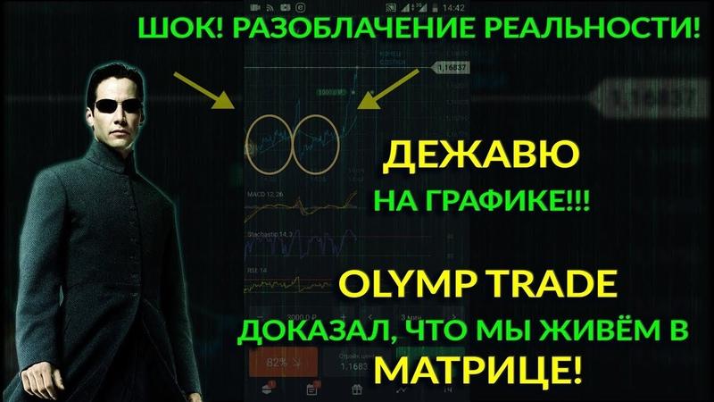 Шок! Olymp Trade доказал, что мы живём в Матрице! Дежавю на графике разоблачение реальности!