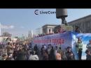 Парад трудовых коллективов и «Танцующие автомобили» в Самаре - Live