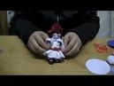 RECICLAGEM -Faça uma BONECA de tampa de garrafa e feltro - doll in felt and fabric