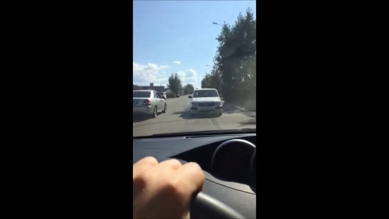 В Улан-Удэ водитель «Тойоты» ехал задом наперед