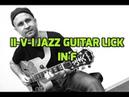 II-V-I jazz guitar lick in F
