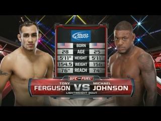 Тони фергюсон vs майкл джонсон. tony ferguson vs michael johnson
