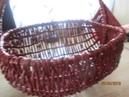 Рукоделие Отличный кошик для дачи из газетных трубочек для огорода