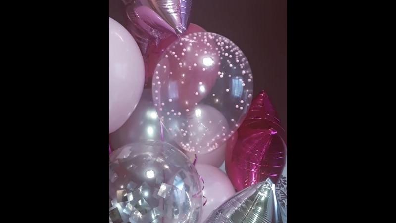 Шикарный фонтан😍🎈🎉из гелиевых шаров. НОВОЕ конфетти🎉 в виде шариков пенопласта, смотрится очень мило, как-будто жемчужинки)) ни