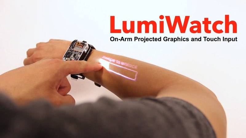 LumiWatch: On-Arm Projected Graphics and Touch Input