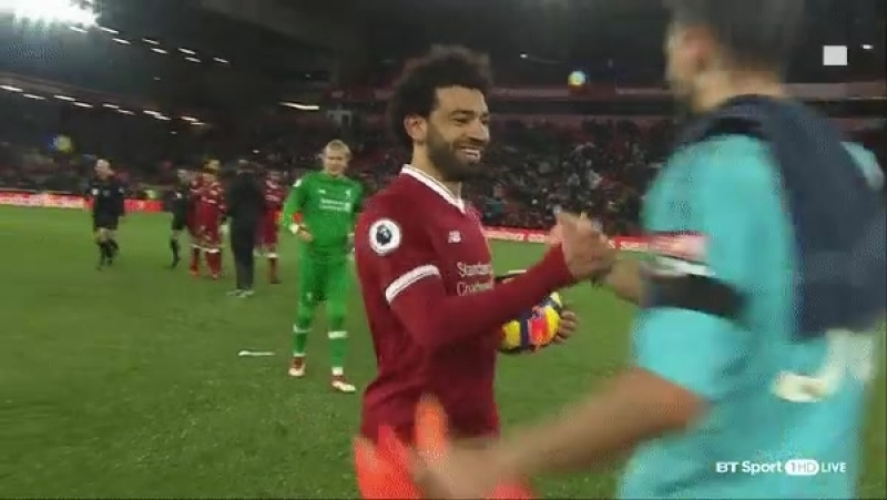 Mo Salah APOLOGISED to the Watford keeper after sticking four past him.