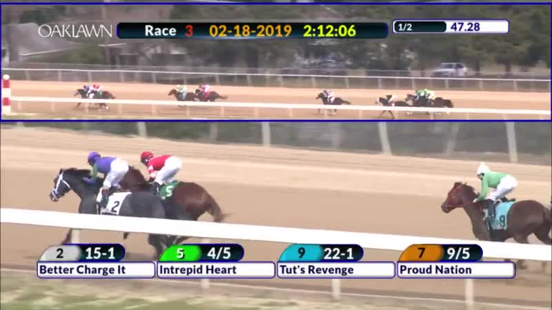 ICYMI Intrepid Heart shook off some pace heat to cruise home in his debut run at @OaklawnRacing on Monday for Todd Pletcher. The