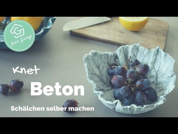 Knetbeton - DIY - Schälchen aus Knetbeton - How To - Wohnaccessoires aus Beton