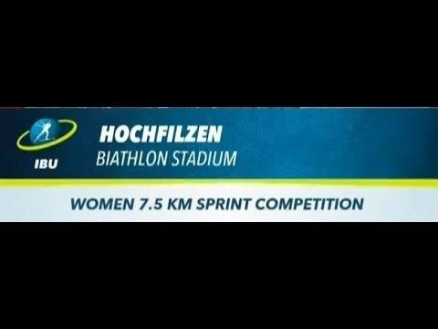 08.12.2017. Спринт 7,5 км. Женщины. Кубок Мира 2017-18. 2 этап. Хохфильцен
